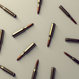 Rifle cartridges Royalty Free Stock Images