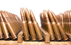 Rifle cartridges Stock Photo