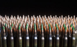 Rifle cartridges with steel in the bullets Stock Image