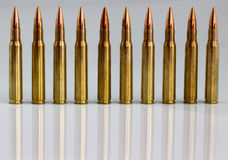 Rifle cartridges Royalty Free Stock Photography