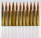 Rifle cartridges Stock Images