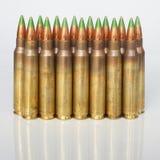 Rifle cartridges on a white background Royalty Free Stock Image