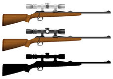 Rifle com vista ilustração do vetor