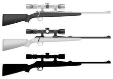 Rifle com vista ilustração royalty free