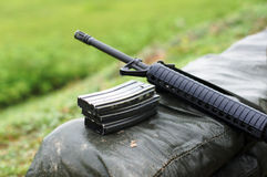 Rifle con la revista Imagen de archivo