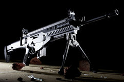 Rifle on a dark background Stock Image