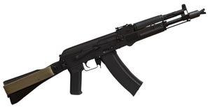 Rifle de AK (AK105) aislado en blanco Imágenes de archivo libres de regalías