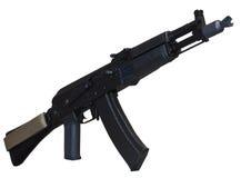 Rifle de AK (AK105) aislado en blanco Fotografía de archivo