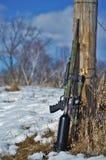 Rifle de ar pronto e esperando Fotos de Stock Royalty Free