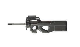 Rifle de asalto Armor Piercing Isolated en el fondo blanco dejado Foto de archivo