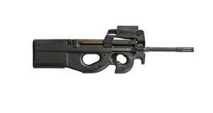 Rifle de asalto Armor Piercing Isolated en la derecha blanca del fondo Foto de archivo