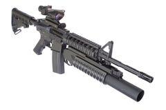 Rifle de asalto con un lanzagranadas M203 Foto de archivo