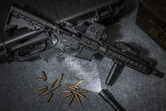 Rifle de asalto del arma Foto de archivo libre de regalías