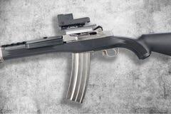Rifle de asalto en grunge Foto de archivo libre de regalías
