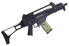 Rifle de asalto semiautomático aislado Fotografía de archivo libre de regalías