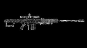 Rifle de atirador furtivo ilustração royalty free