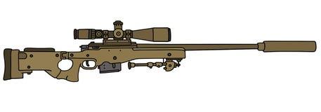 Rifle de atirador furtivo da areia ilustração do vetor