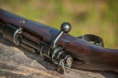 Rifle de Mauser 98 - opinião traseira da ação Imagem de Stock