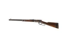 Rifle del oeste, aislado en la izquierda blanca Fotografía de archivo