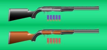 Rifle e cartuchos da caça ilustração stock