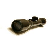 Rifle Gun Scope. A rifle gun scope 4x32 on a white seemless background Royalty Free Stock Photography