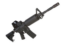 Rifle with gunsight isolated Stock Photo