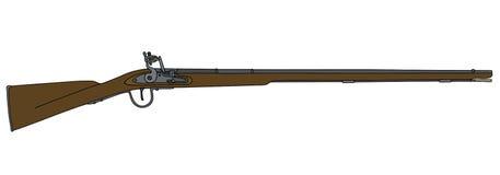 Rifle histórico do matchlock ilustração stock