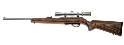 Rifle 22 isolado no fundo branco Imagens de Stock Royalty Free