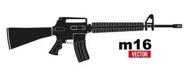 Rifle M16 ilustração stock
