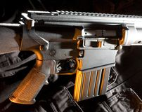 Rifle with orange color Stock Photos