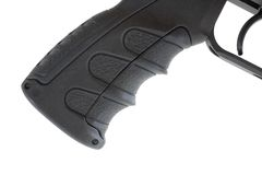 Rifle pistol grip. Pistol grip that is found on a high power tactical rifle Royalty Free Stock Photo