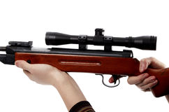 Rifle with scope Royalty Free Stock Photo