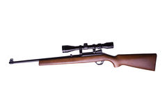 Rifle with scope Stock Images