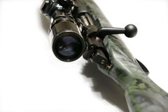 Rifle with Scope Royalty Free Stock Photos