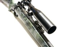 Rifle with Scope Royalty Free Stock Image