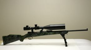 Rifle with scope Royalty Free Stock Photography