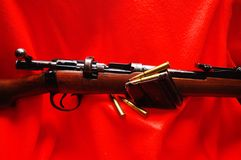 Rifle and Shells Stock Images