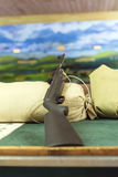 Rifle. Rifle in shooting range in amusement park Stock Photography