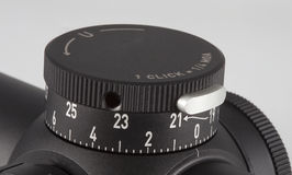 Rifle sight elevation knob Royalty Free Stock Photography