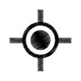 Rifle sight isolated icon. Illustration design stock illustration