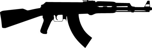 Rifle Silhouette  Royalty Free Stock Images