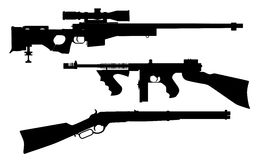 Rifle Silhouettes Stock Image