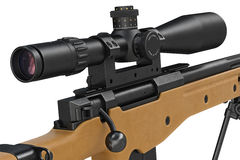 Rifle sniper military equipment, close view Royalty Free Stock Photos