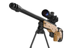 Rifle sniper scope equipment, close view Royalty Free Stock Photos