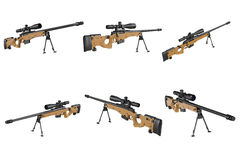 Rifle sniper weapon set Stock Photo