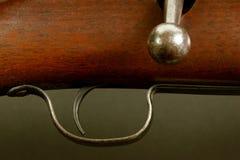 Rifle Study. Still life study showing close up of a rifle Stock Photo