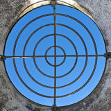 Rifle target. Made of  iron circles again clear blue sky Stock Image