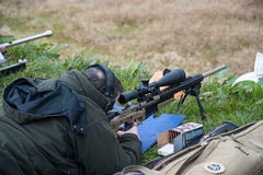 Rifle target shooter Stock Images
