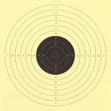 Rifle target with yellow background Stock Images