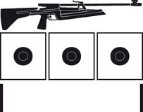 Rifle and targets for biathlon Royalty Free Stock Photography